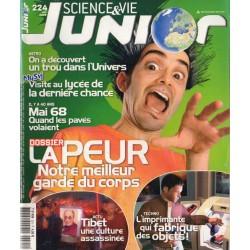 Science & Vie Junior n° 224 - la Peur, notre meilleur garde du corps