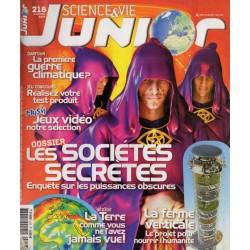 Science & Vie Junior n° 218 - Les Société Secrètes, enquête sur les puissances obscures