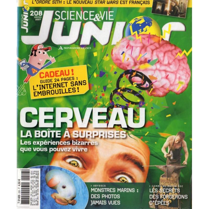 Science & Vie Junior n° 208 - Cerveau, la boîte à surprises