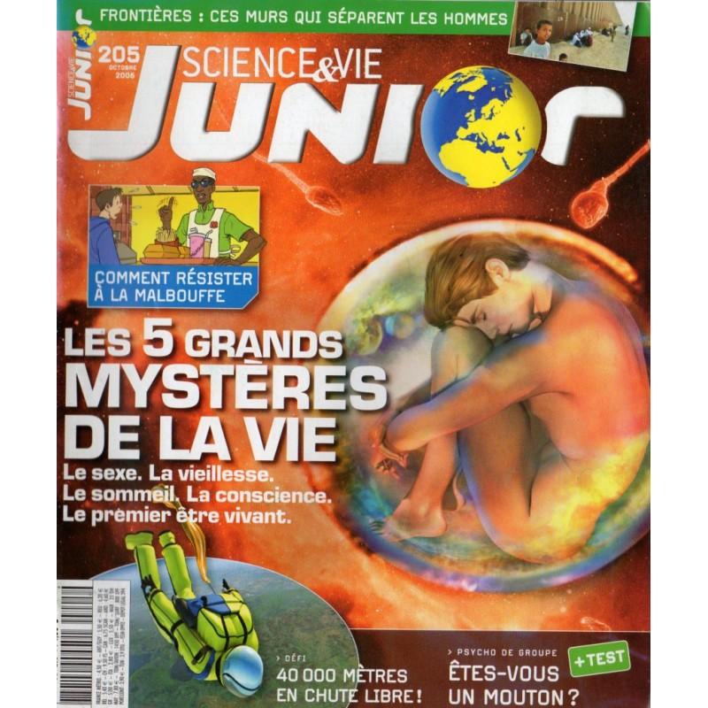 Science & Vie Junior n° 205 - Les 5 grands Mystères de la Vie