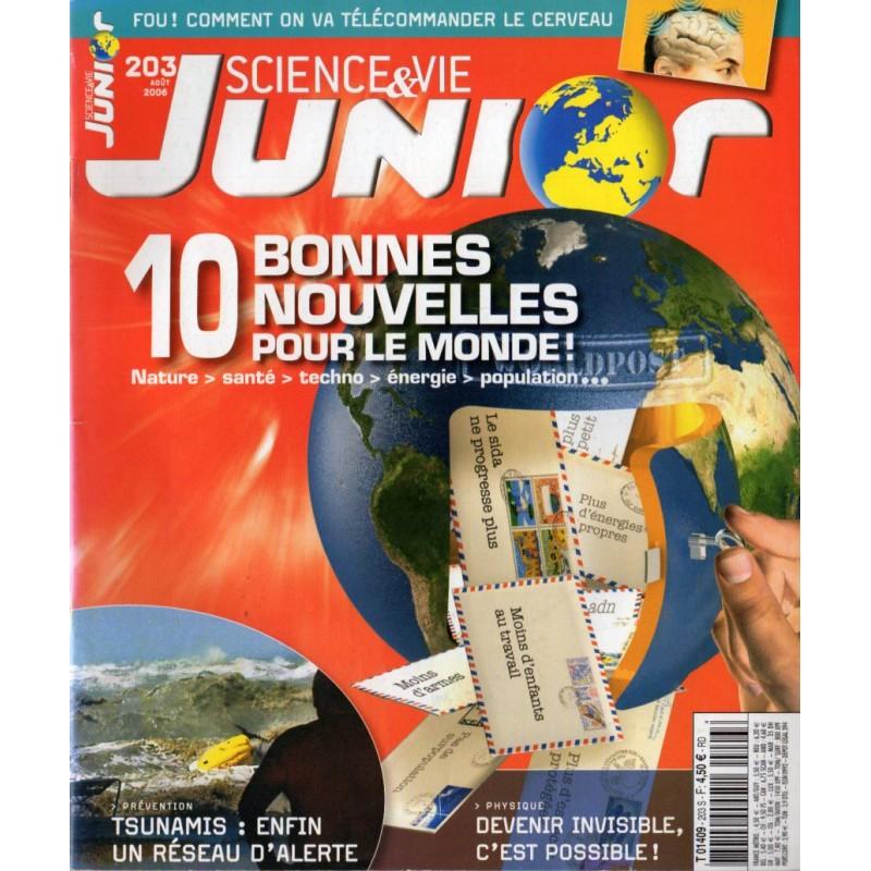 Science & Vie Junior n° 203 - 10 bonnes nouvelles pour le monde !