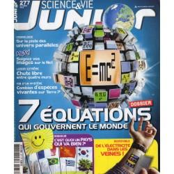 Science & Vie Junior n° 277 - 7 équations qui gouvernent le monde