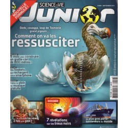 Science & Vie Junior n° 288 - Comment on va les ressusciter : Dodo, couagga, loup de Tasmanie, grand pingouin...