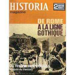 Historia Magazine 2e Guerre Mondiale n° 79 - De Rome à la ligne Gothique