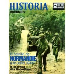 Historia Magazine 2e Guerre Mondiale n° 69 - La Bataille de Normandie (juin-juillet 1944)