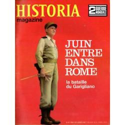 Historia Magazine 2e Guerre Mondiale n° 61 - Le Maréchal JUIN entre dans Rome - La Bataille du Garigliano