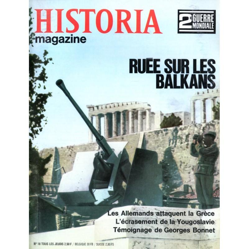Historia Magazine 2e Guerre Mondiale n° 18 - Ruée sur les Balkans