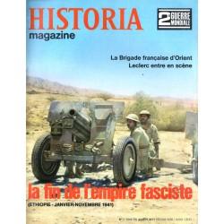 Historia Magazine 2e Guerre Mondiale n° 17 - La Fin de l'empire Fasciste