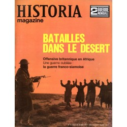Historia Magazine 2e Guerre Mondiale n° 15 - Batailles dans le désert