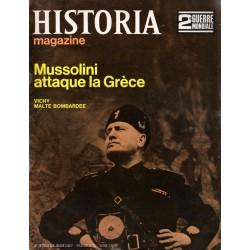 Historia Magazine 2e Guerre Mondiale n° 13 - Mussolini attaque la Grèce