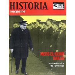 Historia Magazine 2e Guerre Mondiale n° 11 - MERS-EL-KEBIR - DAKAR - les lendemains de l'armistice