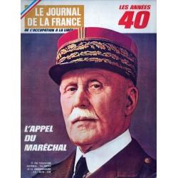 Le Journal de la France (de l'occupation à la libération) n° 106 - L'Appel du Maréchal Pétain
