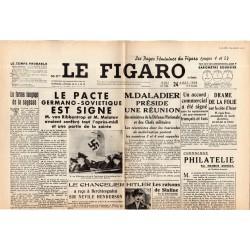 24 août 1939 - Le Figaro (2 pages) - Le Pacte Germano-soviétique est signé