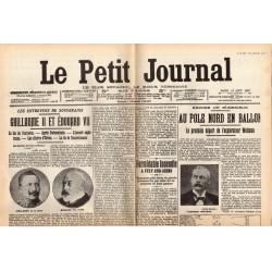 13 août 1907 - Le Petit Journal (2 pages) - Au Pôle Nord en ballon - Maroc, le Général Drude à Casablanca