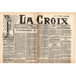 8 décembre 1905 - La Croix (2 pages) - Consummatum est : Séparation de l'Église et de l'État
