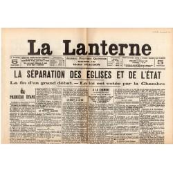 5 décembre 1905 - La Lanterne (2 pages) - Séparation des Églises et de l'État