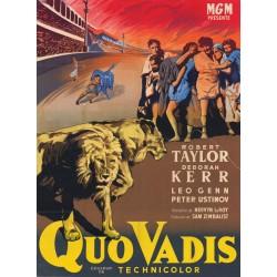 Affiche du film Quo Vadis (avec Robert Taylor & Deborah Kerr)