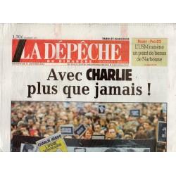 11 janvier 2015 - La Dépêche du Midi (complet) - Avec Charlie plus que jamais !