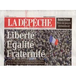 12 janvier 2015 - La Dépêche du Midi (complet) - Liberté, Égalité, Fraternité