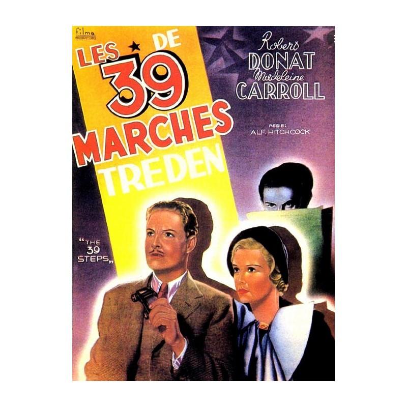 affiche film Les 39 marches (de Alfred Hitchcock)