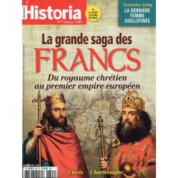 Historia n° 897 - La grande Saga des FRANCS, du royaume chrétien au premier empire européen