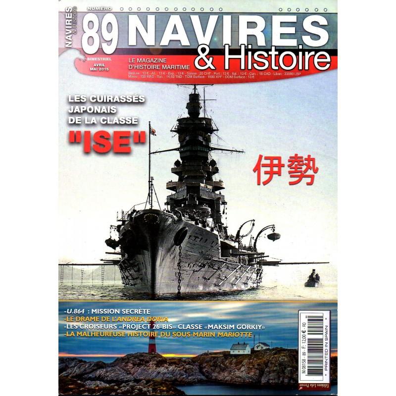 """Navires & Histoire n° 89 - Les Cuirassés japonais de la classe """"ISE"""""""