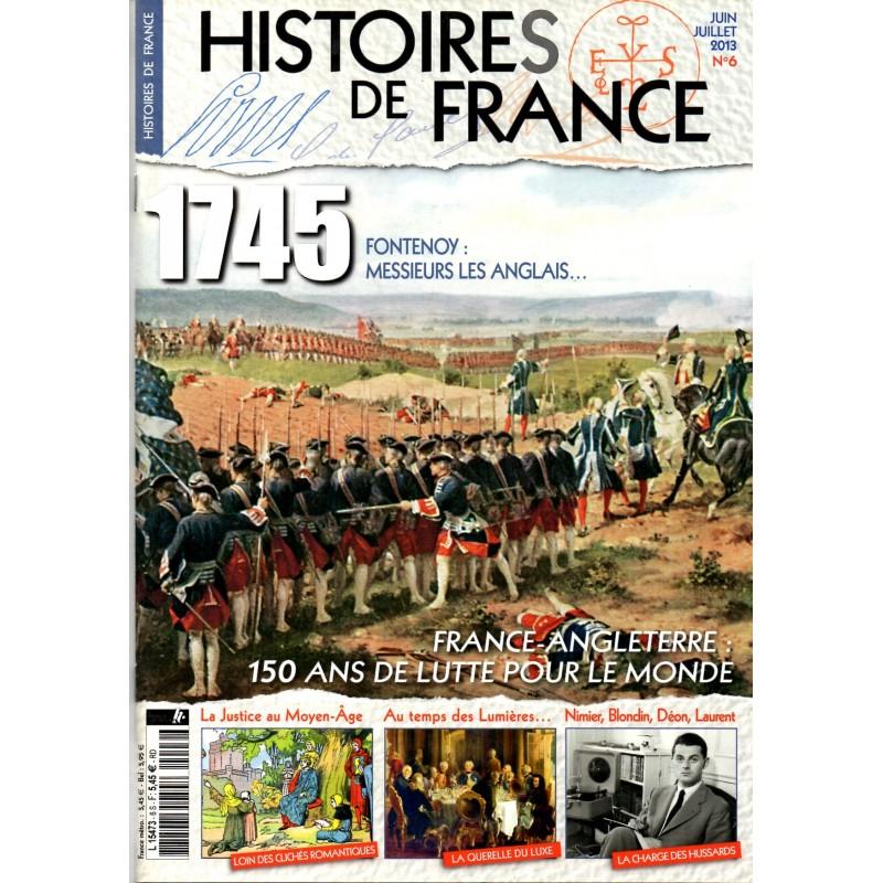 Histoires de France n° 6 - 1745 FONTENOY, Messieurs les Anglais...