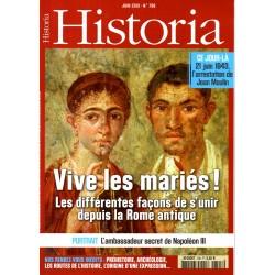 Historia n° 798 - Vive les mariés ! Les différentes façons de s'unir depuis la Rome antique