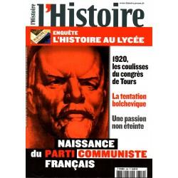 L'Histoire n° 359 - Naissance du Parti Communiste Français