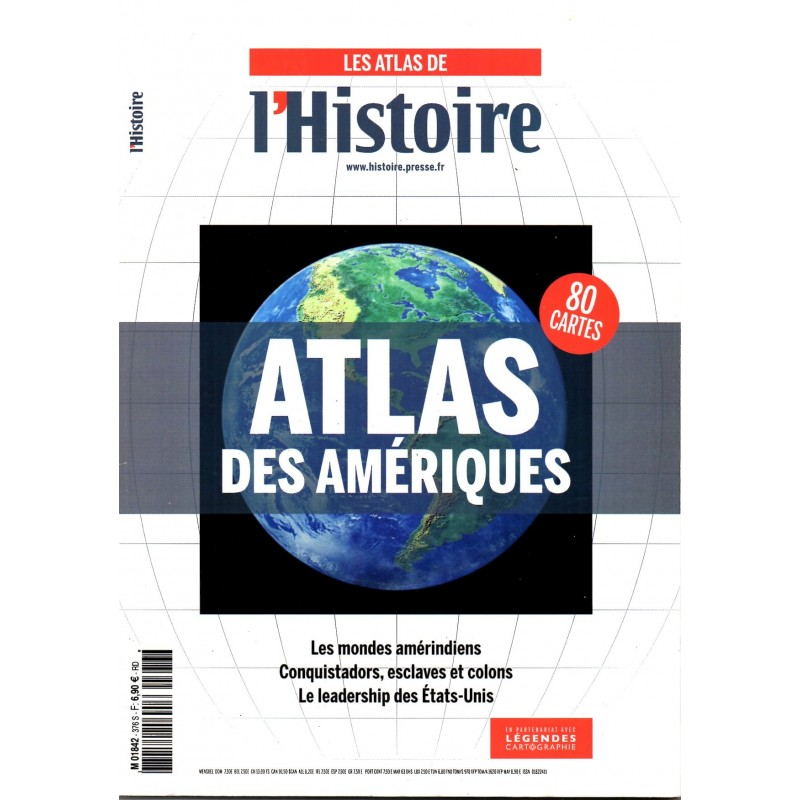 Les Atlas de L'Histoire n° 376S - ATLAS des Amériques