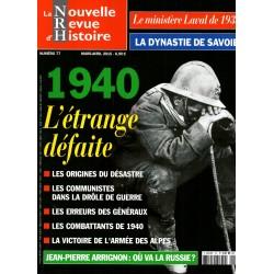 NRH n° 77 - 1940, L'étrange défaite