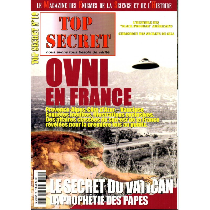 Top Secret n° 19 - OVNI en France & Le secret du Vatican