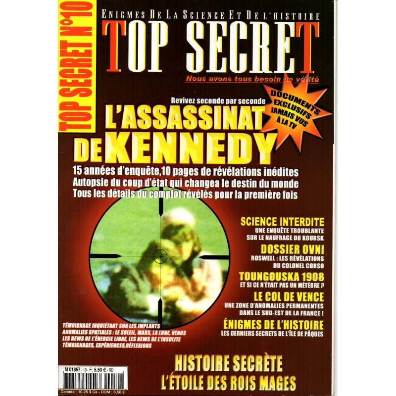 Top Secret n° 10 - L'assassinat de Kennedy