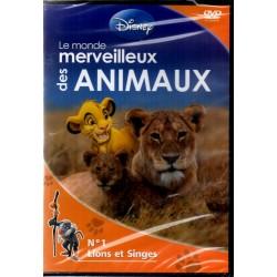 Monde merveilleux des Animaux n° 1 - Lions et Singes - DVD Zone 2