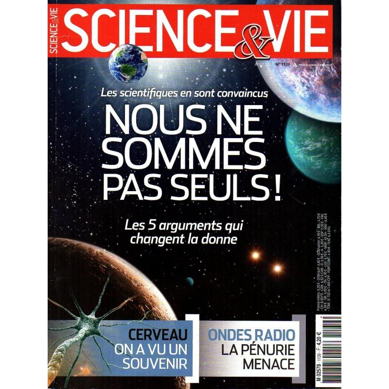 Science & Vie n° 1139 - Nous ne sommes pas seuls !