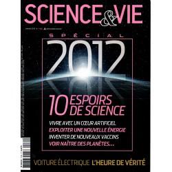 Science & Vie n° 1132 - Spécial 2012 : 10 espoirs de la Science