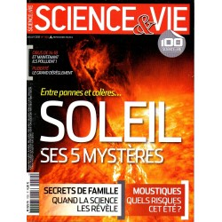 Science & Vie n° 1150 - Entre pannes et colères ... Soleil ses 5 mystères
