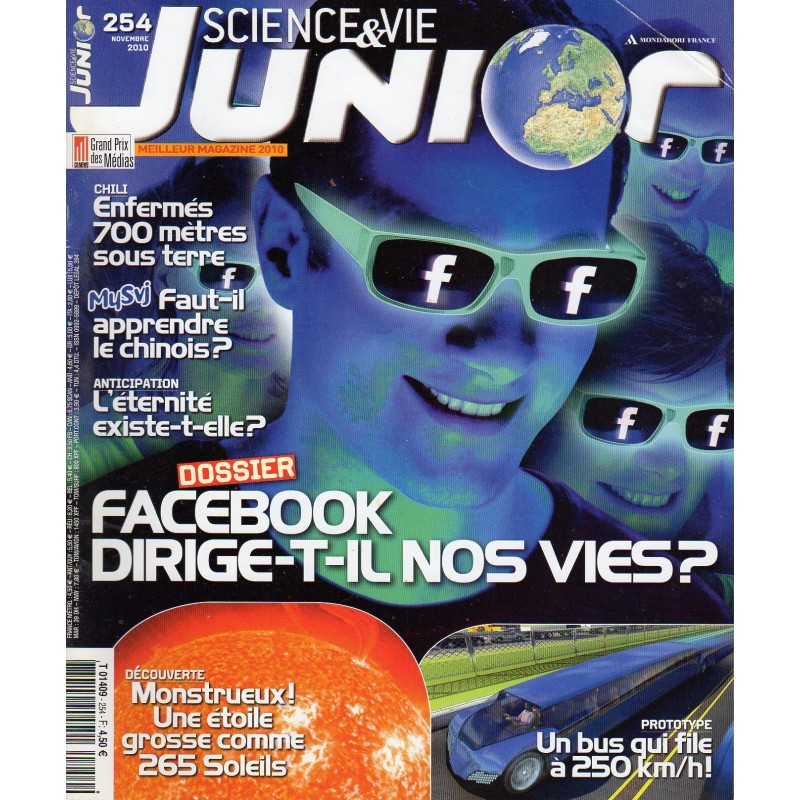 Science & Vie Junior n° 254 - Facebook dirige-t-il nos vies ?