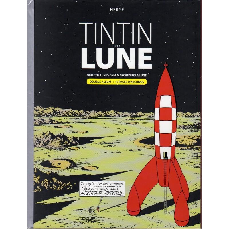 Album Tintin et la Lune : Objectif Lune et & On a marché sur la Lune - Bande dessinée de Hergé