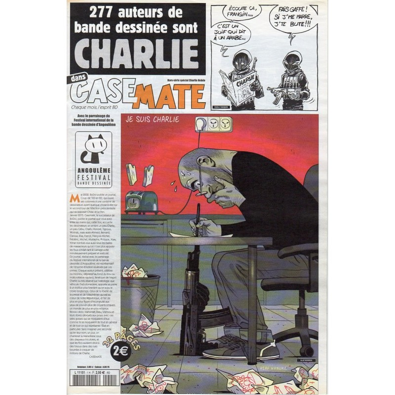 CaseMate - Numéro spécial Charlie Hebdo - 277 auteurs de bande dessinées sont Charlie