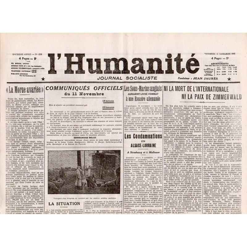 12 novembre 1915 - L'Humanité (4 pages)