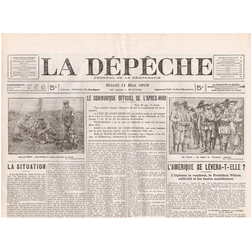 11 mai 1915 - La Dépêche (4 pages)