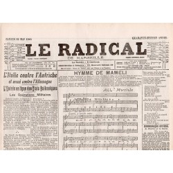 22 mai 1915 - Le Radical de Marseille (4 pages)