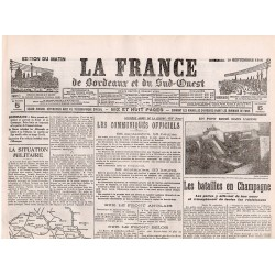 29 septembre 1915 - La France de Bordeaux et du Sud-Ouest (4 pages)