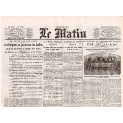 13 octobre 1915 - Le Matin (4 pages)