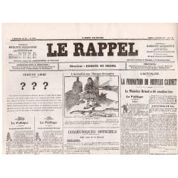 30 octobre 1915 - Le Rappel (4 pages)
