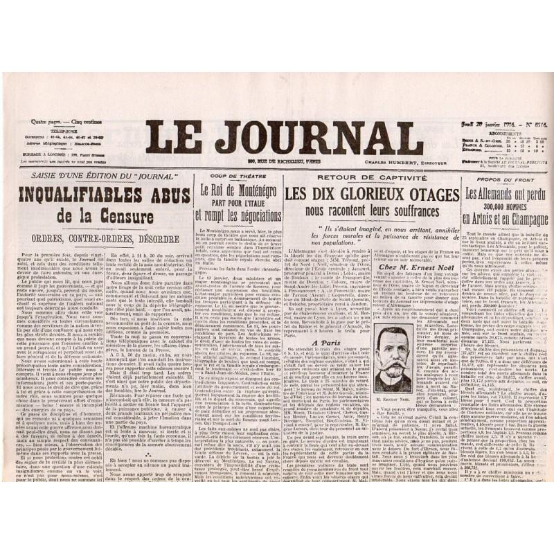 20 janvier 1916 - Le Journal (4 pages)