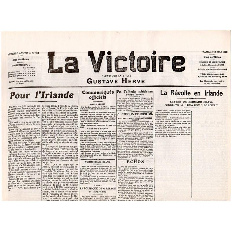 13 mai 1916 - La Victoire (2 pages)