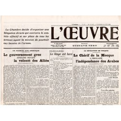 23 juin 1916 - L'Oeuvre (4 pages)