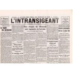 12 juillet 1916 - L'Intransigeant (2 pages)
